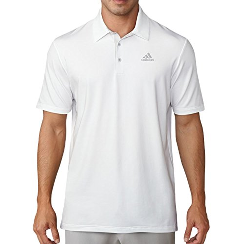 Adidas Golf 2018 Ultimate 365 Solid Mens Performance Golf Polo Shirt White/Greone XL (Herren Ultimate Xl Polo-shirt)