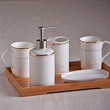 Ensemble di bagno,5 pezzo di osso materiale porcellana unione semplice,bagno Accessori Set