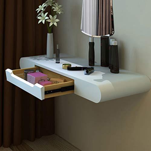Trucco a parete toletta camera da letto bagno comodino mensola a muro scaffale galleggiante scaffale per prodotti di bellezza/prodotti per capelli (dimensioni : 80cm)