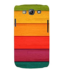 PrintVisa Colorful Wood Pattern 3D Hard Polycarbonate Designer Back Case Cover for Samsung Galaxy S3 Neo