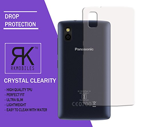 Panasonic T44 Ultra Thin 0.3mm Clear Transparent Flexible Soft TPU Slim Back Case Cover by RKMOBILES
