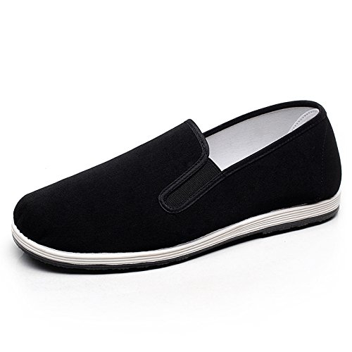 LvYuan Hommes Chaussures Tissu Traditionnel Chinois / rétro Casual Breathable Square Bouche / Kung Fu Chaussures / Arts Martiaux / Tai Chi Chaussures / chaussures melaleuca faits à la main Black