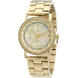 DKNY Women's Quartz Watch Lexington Chrono NY8340 with Metal Strap