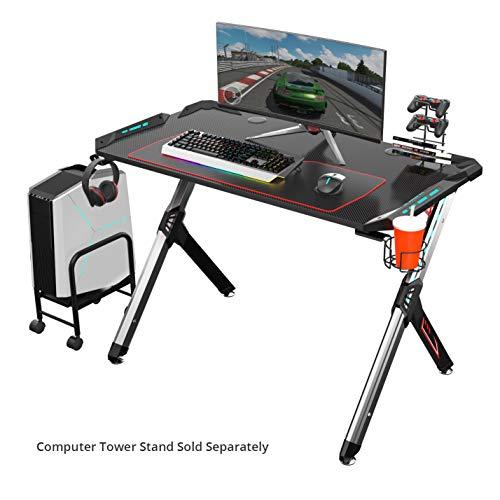 Eureka Ergonomic R1-S Escritorio para juegos: escritorio para computadora de juegos, mesa para...