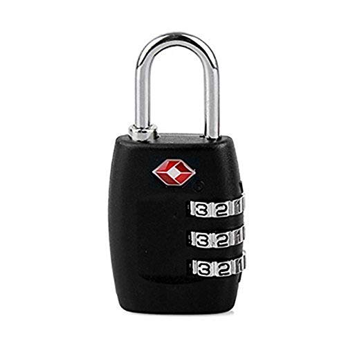 3xtsa Approve Luggage Travel Suitcase Bag Lock 3 Digit Combination Padlock Reset A Plastic Case Is Compartmentalized For Safe Storage Travel
