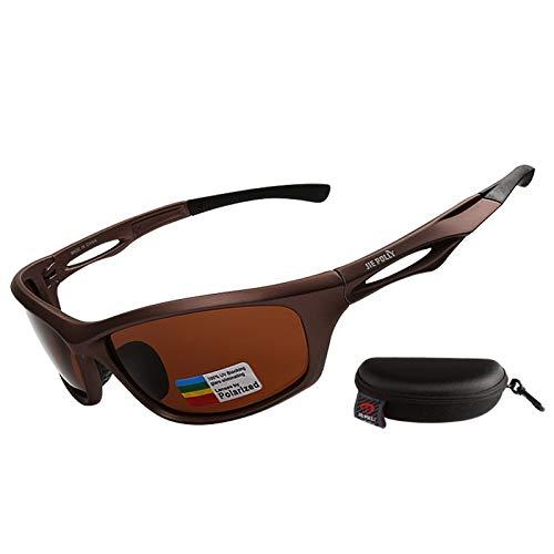 KnBoB Fahrradbrillen Für Herren Radbrille Damen Klar Sportbrille Nachtsicht Braun