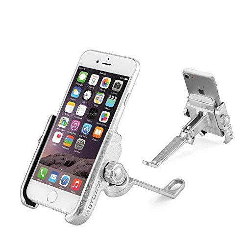 LaDicha Metall 360 Grad Rotation Auto Mount Rückspiegel Telefon Halter Ständer Für Xiaomi Handy - Silber