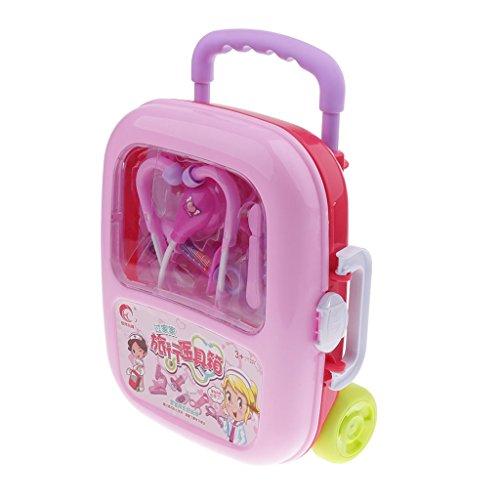 Prettyia 12 teilig Kinder Rollenspiel Arztkoffer ab 18 Monaten Spielbox Krankenschwester Zubehör Medizinische Kit Arztköfferchen Set Doktorkoffer - (Krankenschwester Zubehör Kit)