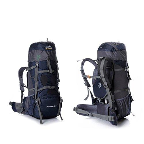 Diretto 75L grande capacità sacchetto di alpinismo all'aperto escursioni zaino zaino esterno con un sistema di trasporto blu marino