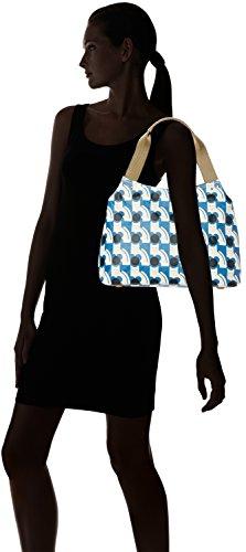 Orla Kiely  Classic Zip, Sacs portés épaule femme Bleu - Blue (Powder Blue)