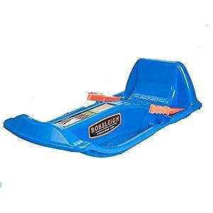 ZHAOK Kunststoffrodel Kinder mit 2 Griffe Bremshebel – Sicherer und Stabilitäter Kunststoff-Schnee Schlitten für den Winter Kinderschlitten,Blau