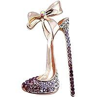 gespout elegante moda broche Lady broche accesorios Bowknot tacón brillantes joyas regalo de cumpleaños (apto para las mujeres