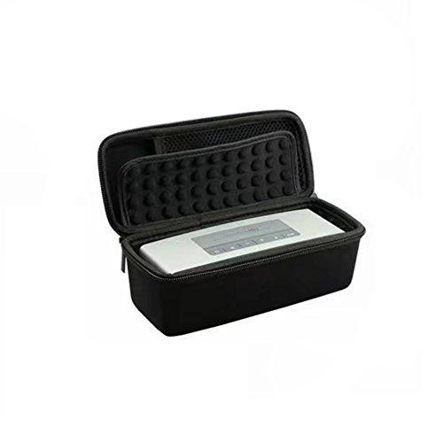 Housse de transport de voyage rigide Etui de rangement EVA pour JBL Flip 3 / pour Bose Soundlink Mini / Mini 2 Haut-parleur Bluetooth et accessoires (Black)