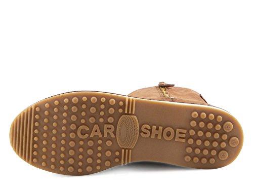 Bottes Car Shoe femme en chevreau couleur Brûlé - Code modèle: KDU97J O0R F0038 Brûlé