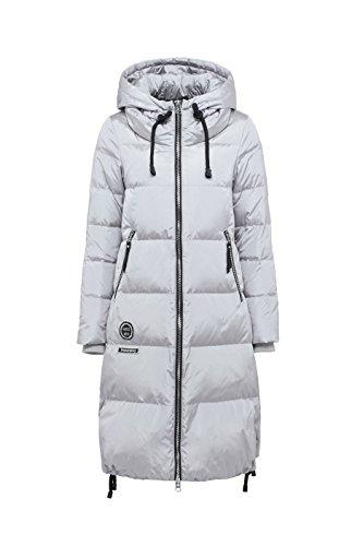 Bosideng Damen Lange Daunenmantel mit Kapuze - Perfekt für kalte Tage Knee Length Down Coat