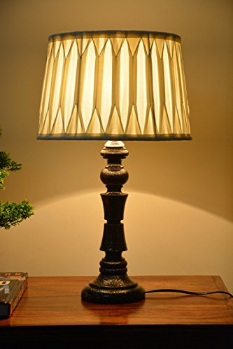 Yashasvi Wooden Table Lamp - LAMP00D14 (Cream)
