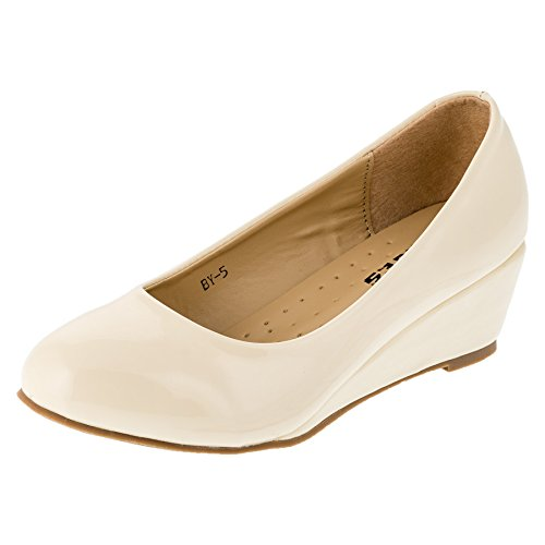 Max Shoes, Scarpe col tacco bambine #152be Beige