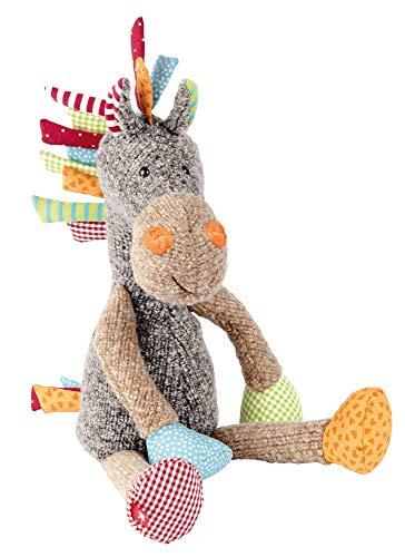 sigikid, Mädchen und Jungen, Stofftier Pferd Sweety, Grau/Bunt, 38371 (Socke Affe-baby-puppe)