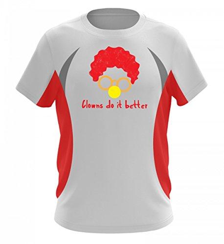rtiges Herren Laufshirt Tailliert Geschnitten - Clown - Zirkus - Geschenk - Karneval - Kostüm - Circus - Gift: Clowns Do It Better (Sport Star Kostüm Ideen)