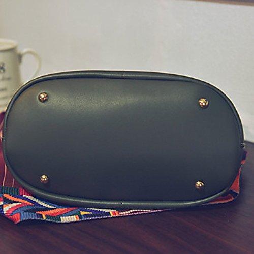 DFUCF Damen PU Büro Beruf Umhängetasche Kuriertasche Handtasche Umhängetasche Tasche Mode Lässig Robust Langlebig Gray