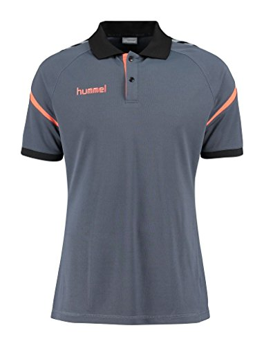 Hummel Herren Auth. Charge Functional Polo Poloshirt OMBRE BLUE/NASTURTIUM