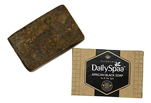 Daily Spaa Organic African Black Soap 125 Gm | Hand Made Pure Organic Soap
