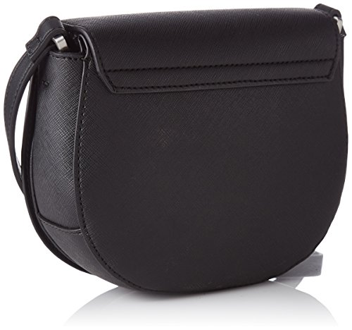 Calvin Klein Damen Marissa Saddle Bag Umhängetasche, 5x16x19 cm Noir (Black)