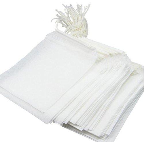 Einweg leer Tee Filter Tee Papier-Staubsaugerbeutel String Kordelzug Dichtung Tee Tasche für lose...