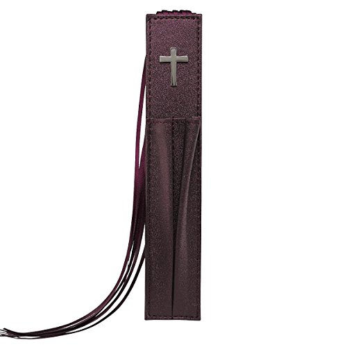 Pagemarker Lux-Leather Bible - Cross Purple W/ Two Pen Holders