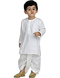 Bownbee White Dhoti Kurta For Boys