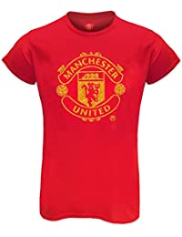 ec24ea215 Manchester United FC Official Football Gift Ladies Glitter Print T-Shirt