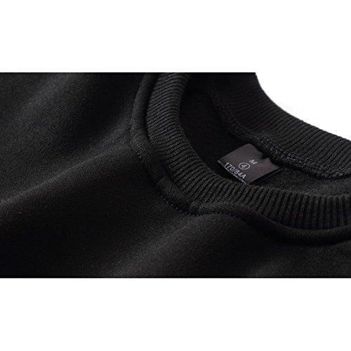 Femme Hombres Sweat-Shirt à Manches Longues Mode Fans Kpop Sweats Col Rond Chaud Décontractée Pullover Autumne Hiver Tops Manteau Noir