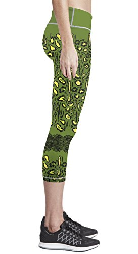 Zipravs Women Tight Capri Running Compression Yoga Cropped Leggings ZYCP-140