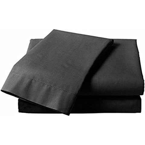 Lenzuola in Cotone Egiziano 200fili di alta qualità, Lino, letto singolo lenzuolo con angoli, colore: (Lavato Lino Facile Fit)
