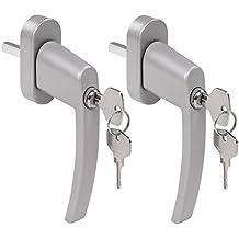 2x abschließbarer Fenstergriff Türgriff Kindersicherung Fenster-Griffe Schlüssel