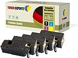 4er Set TONER EXPERTE® Premium Toner kompatibel zu 593-11130 593-11129 593-11128 593-11131 für Dell C1660, C1660W, C1660CN, C1660CNW