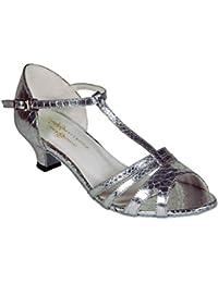 Tappers & Pointers Zapatillas de Danza Para Niña Plateado Plata, Color Plateado, Talla 35.5