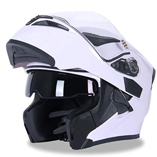 KT Casco Mezzo Casco Casco Leggero Casco Moto Casco Moto Mezze Caschi for Moto DOT Casco Casco Bianco Casco da Trek (Size : XXL)