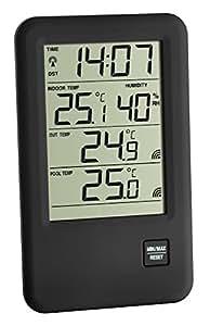 """TFA Dostmann 30.3053 IT """"Malibu"""" / Thermomètre de spicine radio pilote"""