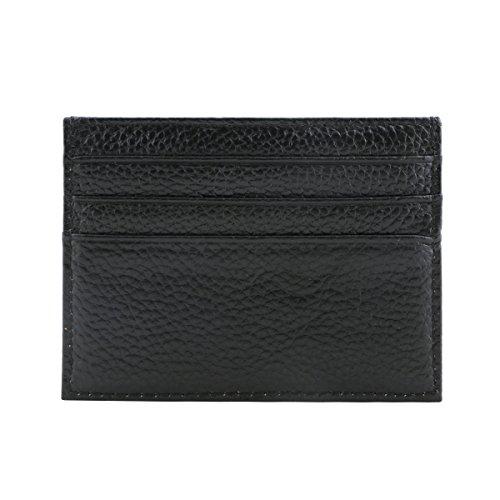 e4ea4d89f2 URAQT Ultra Sottile Porta Carte di Credito in Pelle, Tasca Frontale Porta,  Mini Id Caso Portafoglio (Nero)