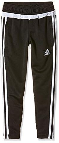 adidas Kinder Sporthose Lang Tiro15 Trainingshose, schwarz/Weiß, 128, M64031
