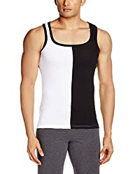 Chromozome Mens Cotton Vest (TE-04_TE04_white_L)