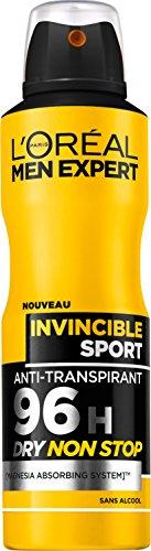 L'Oréal Men Expert Déodorant Atomiseur Spray Invincible Sport 200 ml - Lot de 3