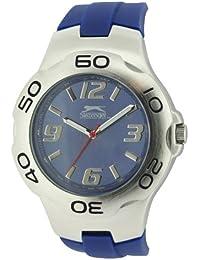 SLAZENGER SLZ122/C - Reloj analógico de cuarzo para hombre, correa de silicona color azul
