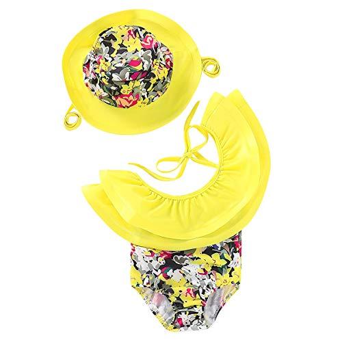 (SH-RuiDu Direct Store Infant Baby Mädchen Neuheit Schwimmen eine Schulter Rüsche Kostüm Badeanzug + Hut (Size : 18M-24M))