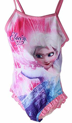 Die Eiskönigin Frozen Badeanzug Rosa Elsa Größe 128/ 8 Jahre