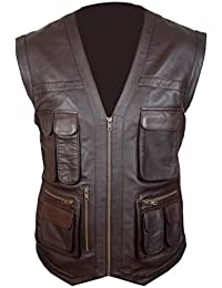Flesh & Hide F&H Kids Jurassic World Chris Pratt Owen Grady Synthetic Leather Vest