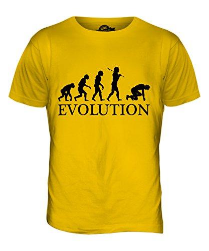 CandyMix Sprinter Sprint Läufer Evolution Des Menschen Herren T Shirt Dunkelgelb