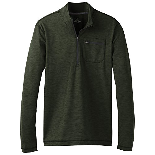 prAna Zylo 1/4 Zip Hoodie, Cargo Green, Small