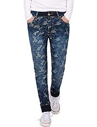 Fraternel Vaqueros mujer camuflaje Pantalones del ejército